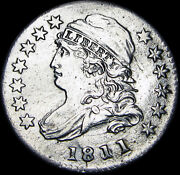 1811/9 Capped Bust Dime Rare Date ---- Stunning ---- F469