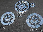 Chrome Super Spoke Pulley/rotor Kit Flstn Softail 66 Tooth 1 Belt 2007and039-2014and039