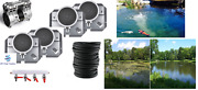 Large Pond Aerator System W/300and039 Wtd Hose 4-diffusers +valve 5+ Cfm 1-4 Acres