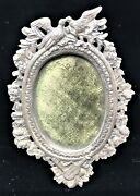 Antique Photo Picture Frame Sterling Silver Oval M Boulgaris Violin Birds Ornate