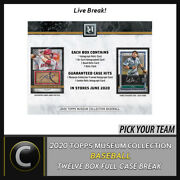 2020 Topps Museum Collection Baseball 12 Box Case Break A894 - Pick Your Team