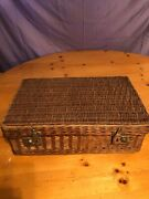 wicker Picnic Basket By Brooks Brothers