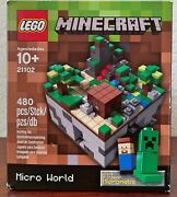 New Lego Minecraft Micro World Forrest Complete Set 21102 480 Pcs Factory Sealed