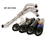 For Yamaha Mt-09 Fz09 Exhaust Pipe Motorcycle Header Pipe Slip On 51mm Escapes