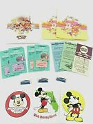 Walt Disney World And Epcot Center - Tickets And Stickers And Pins -16 Original Items
