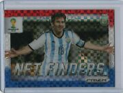 2014 Prizm World Cup Net Finders Red White Blue Power Plaid 2 Lionel Messi Hot