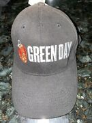 Green Day Grey Baseball Cap Hat One Size Embroidered Heart Grenade Concert Band