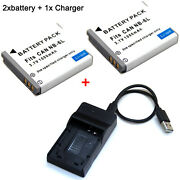 Battery / Charger For Canon Ixy Digital 10s 25 Is 30s 31s 32s 110 Is 200f 930 Is