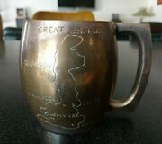 Rare Antique Great Britain Silver Plated Cup Epns Copper London Glasgow