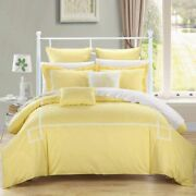 Chic Home Woodford 7 Piece Embroidered Comforter Set Yellow
