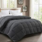 Harkawon Comforter Full Size Soft Quilted Down Alternative Duvet Insret With Cor