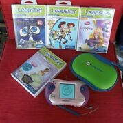 Leapfrog Leapster 2 Pink W/ 4 Smartridges W/ Cases Nice