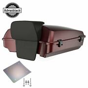 Advanblack Mysterious Red Sunglo Razor Tour Pack Trunk Luggage Fits 1997+ Harley