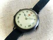 Red Cross Trench Watch Imperial 1910s Roman Numerals White Dial Antique