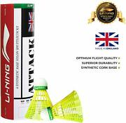 Li-ning Attack Nylon Shuttle Pack Of 6 Best Suited For Training Sessions
