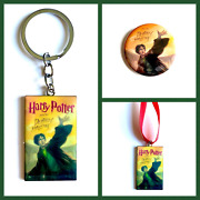 Harry Potter Deathly Hallows Keychain Ornament Or Button
