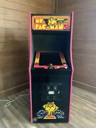 New Black Ms. Pacman Arcade Machine Upgraded To Play 412 Games