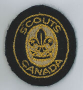 1990's Scouts Of Canada / Canadian - Cub Scout Leader Cloth Beret / Hat Patch