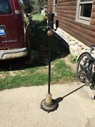Vintage 4 Light Floor Lamp With Lighted Base