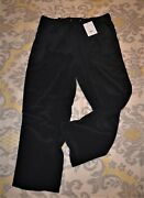 Nwt Theory Black Cortland Concord Summer Silk Pant Pants Women's L Large 295