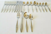 Oneidacraft Deluxe Stainless Lasting Rose Flatware Cream Soup Spoon Knife Fork