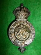 Kingand039s Royal Rifle Corps Officerand039s Silver Horse Furniture Martingale Badge