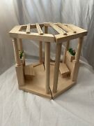 Plan Toys Dollhouse Wood Garden Gazebo Plants Bench 73341 Wooden Furniture