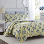 Laura Ashley Home | Linley Collection | Luxury Premium Ultra Soft Quilt Coverlet