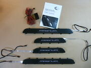 Techart Illuminated Carbon Fibre Door Entry Guard Inserts For Cayenne 958