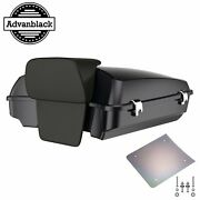 Advan Black Pearl Razor Tour Pack Trunk Luggage Top Box For Harley Touring 97-20