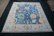 Contemporary Turkish Oushak Rug With Pastel Colors And Tribal Boho Chic Style