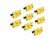 8-pack Accel 140043-8 Ignition Super Coils Yellow For Gm Ls2/ls3/ls7