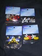 Lot Of 4 Disney Buttons/embellishments Cars+frozen+donald Duck+mickey Sealed