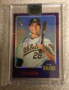 1/1 2017 Topps Heritage Matt Olson Rookie Auto From 2018 Archives Signature A's