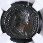 Faustina Minor As 145-146 Ngc Ch Xf+ Diana Rome Ric 1405b Faustine The Young