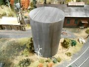 Ho Roco Railway 28' Oil Tank Without Ladder Flat Top Hand Painted Weathered