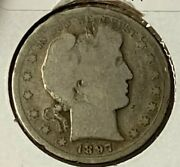 1897 S About Good Ag Barber Silver Us Half Dollar 50c