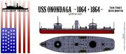 Flagship Models 1/192 Scale Uss Onondaga River Monitor 14 Inches Long