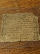 Paul Revere Engraved Codfish Note Colonial Key 1776 Ma-228 12d Midnight Ride