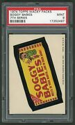 1974 Topps Wacky Packages Sticker Soggy Babies 7th Series Psa 9