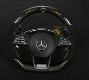 Mercedes Steering Wheel Glc63 C253 Carbon Led Made In Germany