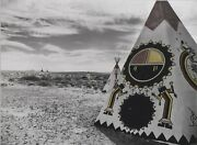 Photography, 16 X 20 Matted Black And White, Trading Post Tee Pee, Az