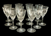 9 Baccarat France Cut Glass Water Goblets In Zurich