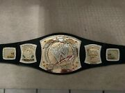Autographed By John Cena Authentic Wwe Championship Replica Adult Spinner Belt