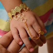Metal Classic Gold Color Copper Coin Fashion Bangles For Children Birthday Gifts