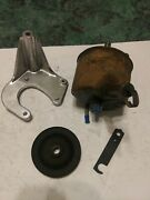1967+ Ford Big Block 390gt 428cj Power Steering Pump Core Brackets And Pulley Ag