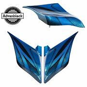 Daytona Blue Airbrush Stretched Extended Side Cover For Harley Touring 2014+