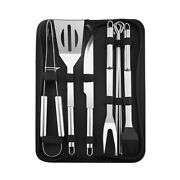 9 Pcs Bbq Grill Tool Set Stainless Steel Barbecue Accessories Kits For Outdoor