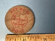 Vintage Wooden Nickel Promo 1992 Clinton-gore Itand039s Time For A Change