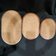 Vintage Standard Specialty Co. Oval Shaped Trivets Hot Pads Wood And Cork Japan